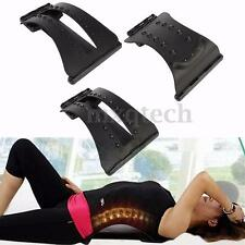 Magic Back Support Stretcher Lower Lumbar Massage Spine Pain Relief Corrector