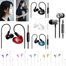 3.5mm Super Bass Stereo In-Ear Earphone Headphone Headset Mic For iPhone Android