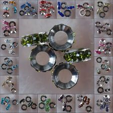 h2048-2073 10x4 Wholesale Multi-color Crystal Class Spacer Loose Bead Findings