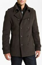 Nwt MARC NEW YORK By ANDREW MARC Men's Gray Wool Peacoat Jacket Double Breasted