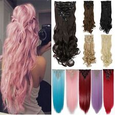 Thick Real As Remy Hair Extensions 8Pcs 18Clip Clip In Hair Extensions Curly Frr