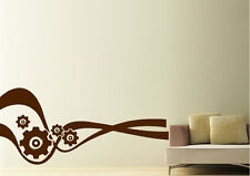 Abstract Wall Stickers Cogs Of Time Vinyl Decal 15 Colours 00017