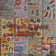Scrapbooking Stickers We R Memory Keepers Pebbles Crate Paper Studio Calico