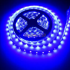 M5M UV 3528 SMD 16.4ft 300 LED Purple LED Strip Light 60LED/M Non-Waterproof 12V