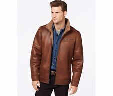 BUFFALO By DAVID BITTON Faux Fur Shearling Basic Jacket Mens Brown Solid Coat