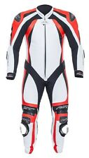 RST PRO SERIES II ONE PIECE MOTORCYCLE RACE LEATHERS WHITE FLO RED 1840
