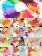 25/50/100x Wedding Favour Sheer Gift Bags Jewelry Packing Organza Pouch Gift Bag