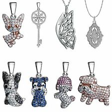 2017 Fashion 925 Silver Charms Pendant Crystals Jewelry Fit Women Necklace Chain