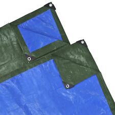 #sNew PE Cover Sheet Washable Waterproof Lightweight 8 x 4 m 210 gsm Green/Blue