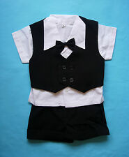 BABY BOY OUTFIT Black Special Occasion Wedding Suit Formal Wear Boys Clothing