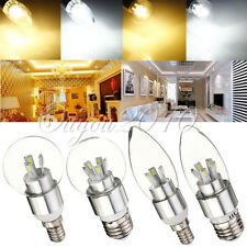 Dimmable E14 E27 4/8W LED Globe Chandelier Candle Light Lamp Bulb Glass 110-240V