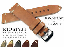 Watch BAND 22mm RIOS1931 Vintage Retro Look Leather BAND Strap Hand Made Germany
