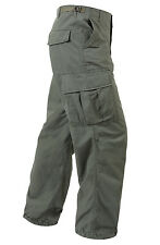 Vintage Vietnam Era Olive Drab Army Fatigue Pants, New Reproduction