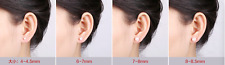 4mmTO8.5mm AAA+++ Akoya Natural White Pearls 4 Pairs Earrings 925 Silver Wedding