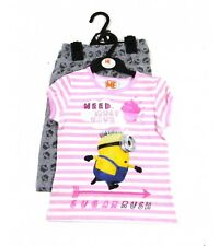 NEW Girls BHS Minions Despicable Me 'Cup Cake' Pyjama Set 3,4,5,6,7,8,9,10 Yrs
