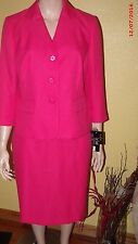 Nwt Plus Size 18w,24w Evan Picone The Hamptons Deep Rose 2pc Skirt Suit