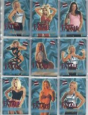 Choose your 2001 Fleer WWF Raw Is War Femme Fatale FF Trading Card