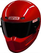 SIMPSON SUPER BANDIT HELMET SNELL SA2015 RED COLOUR MSA M6 FIA