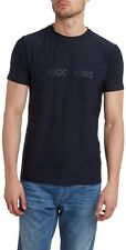 Hugo Boss Men S New Navy Blue Tianox 1 Polyester Short Sleeve Basic Tee T Shirt