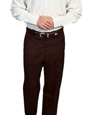 Scully Western Pants Mens Solid Zip Dressy Piping Trouser P-708