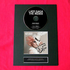 LADY GAGA The Remix Album Signed CD COVER MOUNTED A4 Autograph Print 11