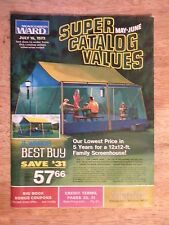 1973 MONTGOMERY WARD CATALOG VINTAGE WOMEN CLOTHING TOOLS CAMPING FURNITURE OLD