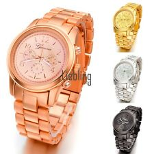 Hot Fashion Ladies Women Girl Unisex Stainless Steel Quartz Wrist Watch 4 LEBB