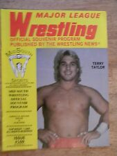1985 WRESTLING MAGAZINE VINTAGE MID SOUTH WWF PROGRAM OLD NWA TERRY TAYLOR OLD