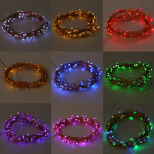 20-200LED Solar / Battery Powered Outdoor Xmas LED Fairy Lights String Party LOT