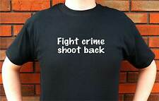 FIGHT CRIME SHOOT BACK SELF DEFENSE 2A T-SHIRT TEE FUNNY CUTE