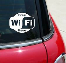 FREE WIFI SPOT ZONE LOCATION BUSINESS GRAPHIC DECAL STICKER ART WALL DECOR