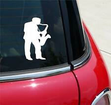SAX SAXOPHONE PLAYER BAND SONG MUSIC GRAPHIC DECAL STICKER ART CAR WALL DECOR