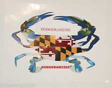 Maryland's Chesapeake Bay Blue Crab flag bumper sticker (Select Quanitity)