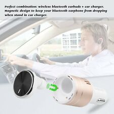 Bluetooth Headset 4.1 Wireless Bluetooth Earphone with USB Smart Car Charger LF