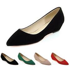 kala Womens Suede Ballet Flats Ladies Pointed Toe Ballerinas Size 9 10 11 12 13