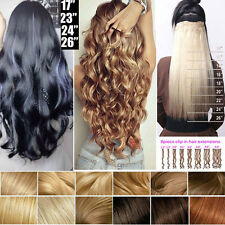 Full Head Deluxe 8Pcs Clip In Hair Extensions Long Curly 18Clips Highlight Nc1