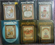 """CHOOSE ONE:PARAGON NEEDLECRAFT VINTAGE COUNTED CROSS STITCH KIT 5"""" x 7"""" Picture"""