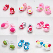 Cute Handmade Newborn baby BOY Girl Crochet Knit Socks Flower Toddler Shoes TO