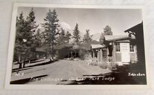 THE COTTAGES JASPER PARK LODGE CANADA RPPC VINTAGE 1951 REAL PHOTO POSTCARD