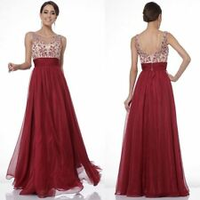 Women Bridesmaid Floral Evening Gown Formal Party Backless Dress Long Maxi Dress
