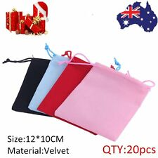 20 X Velvet Drawstring Pouches Bags for Wedding Gifts Jewellery Packing GD