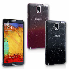 Yousave Accessories Hard Back Raindrop Phone Case Cover Samsung Galaxy Note 3