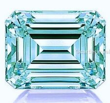 Genuine Greenish blue 1 to 3 Ct Color emerald cut Loose moissanite for sale
