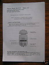 PALOMA HEATER MANUAL PH-5-3F MARK V HARD TO FIND LOOK 400 SOLD FREE POST!!!!!!!!