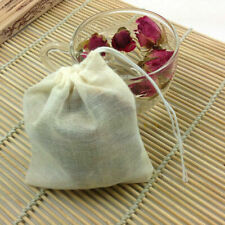 10 / 100 Pack Cotton Muslin Drawstring Bags Soap Herbs Tea Reusable Packing Bath