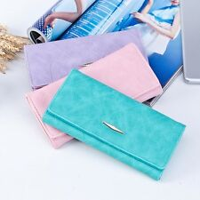 Women Solid Hasp Small Coin Purse Long Wallet Card Holders Clutch Zipper Handbag