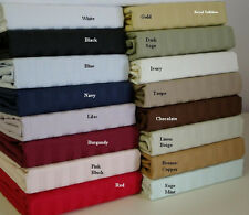 Cotton Blend Wrinkle Free Sheets 650 Thread Count Striped Sheet Set