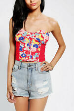 Urban Outfitters Kimchi Blue Dockside Red Bustier Top NWOT