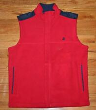 NEW NWT Brooks Brothers Mens Polar Fleece Vest Ski Golf $79.50 Navy Blue Red