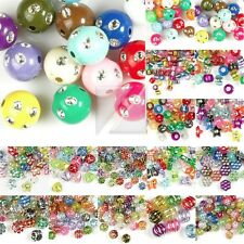 Acrylic Foil Beads Spacer Mixed DIY Bracelet Necklace Jewelry Making 16 Styles